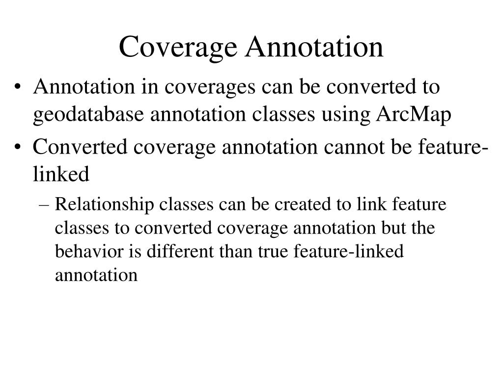 Coverage Annotation