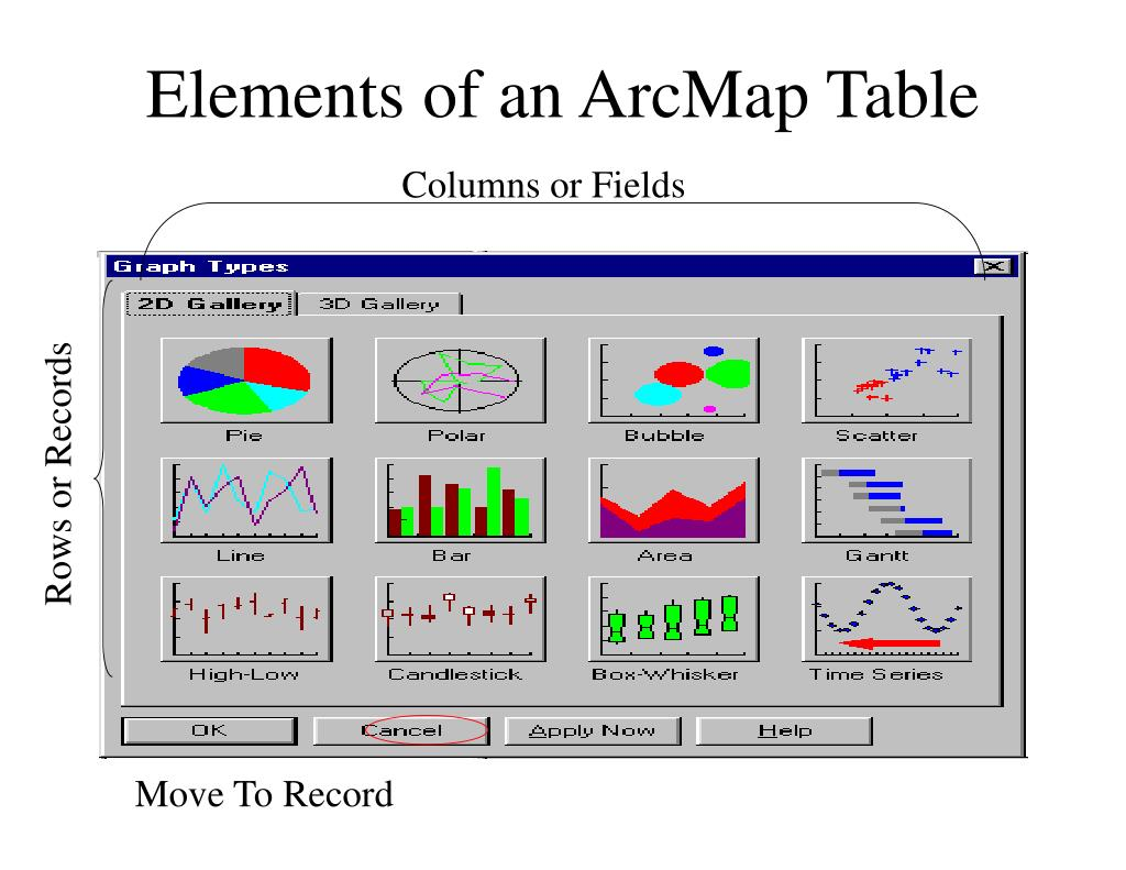 Elements of an ArcMap Table