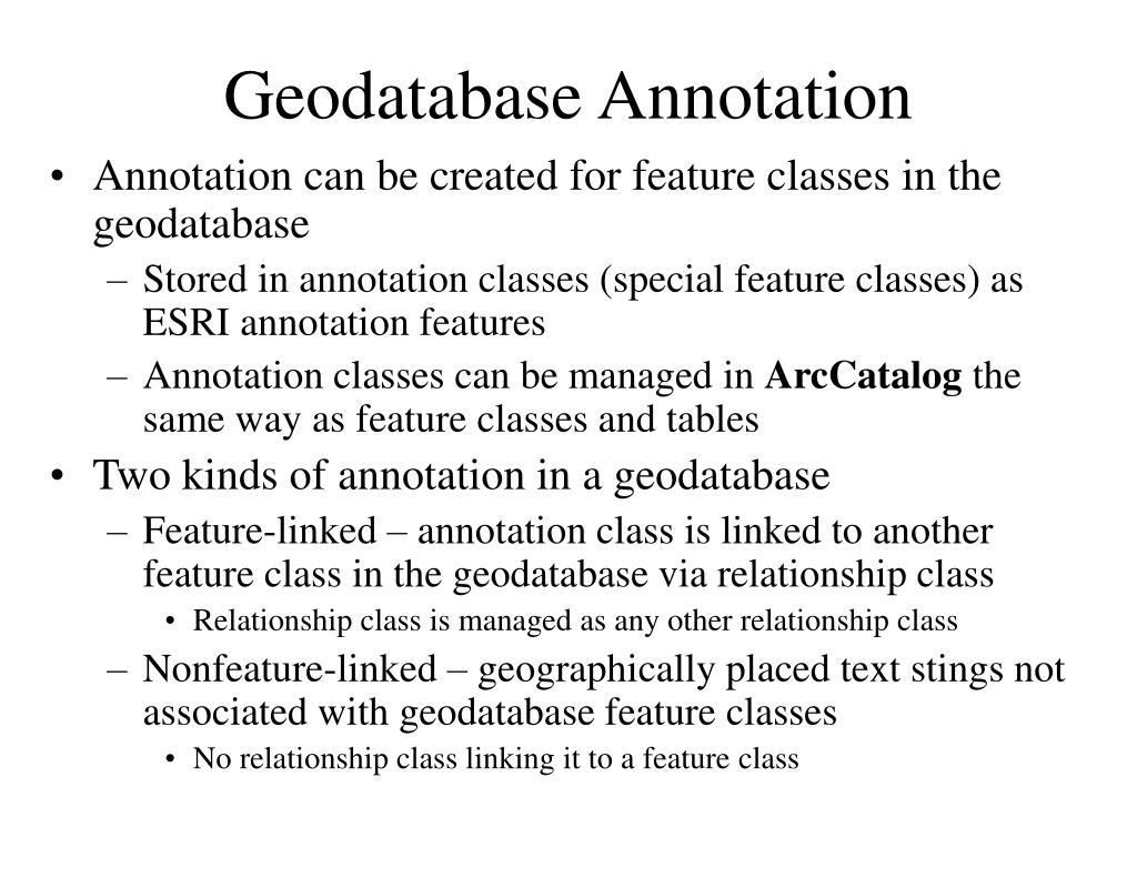 Geodatabase Annotation
