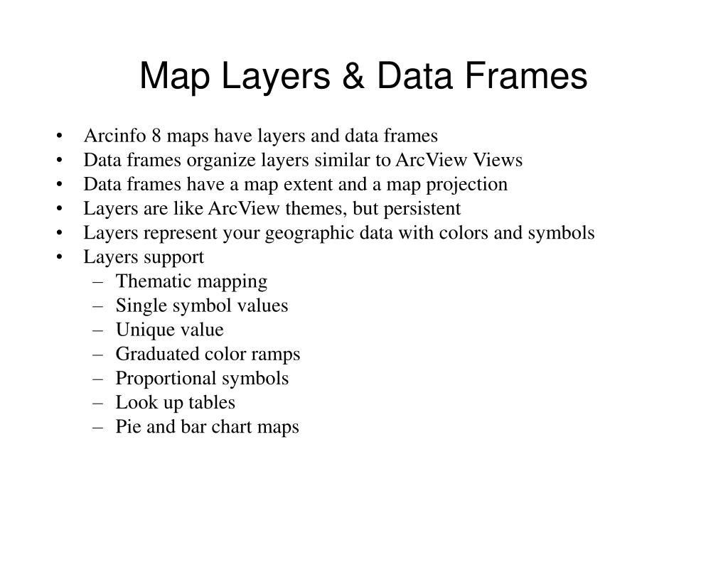 Map Layers & Data Frames