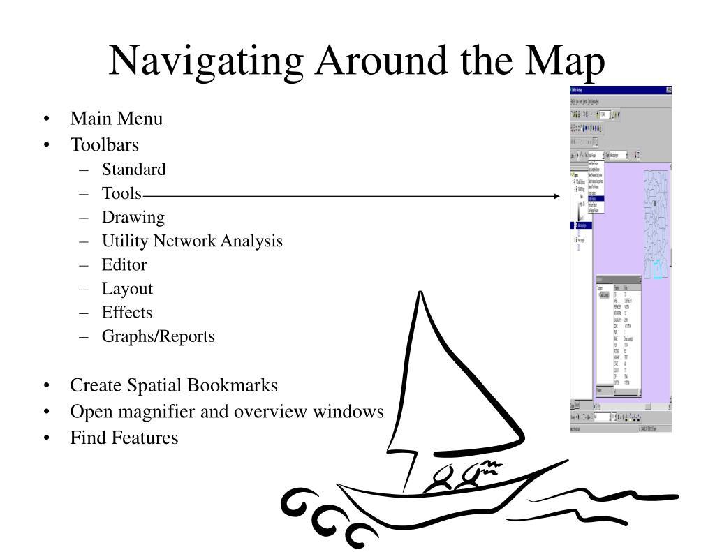 Navigating Around the Map
