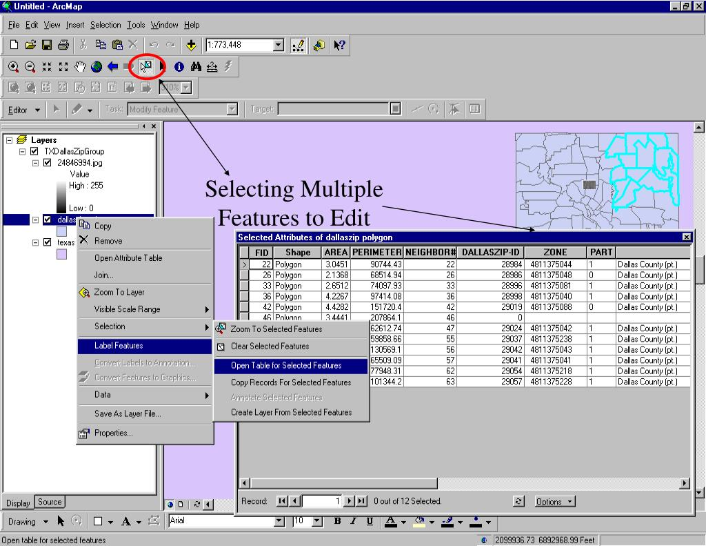 Selecting Multiple
