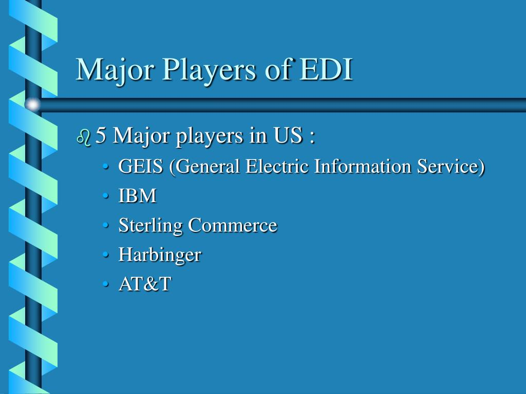 Major Players of EDI