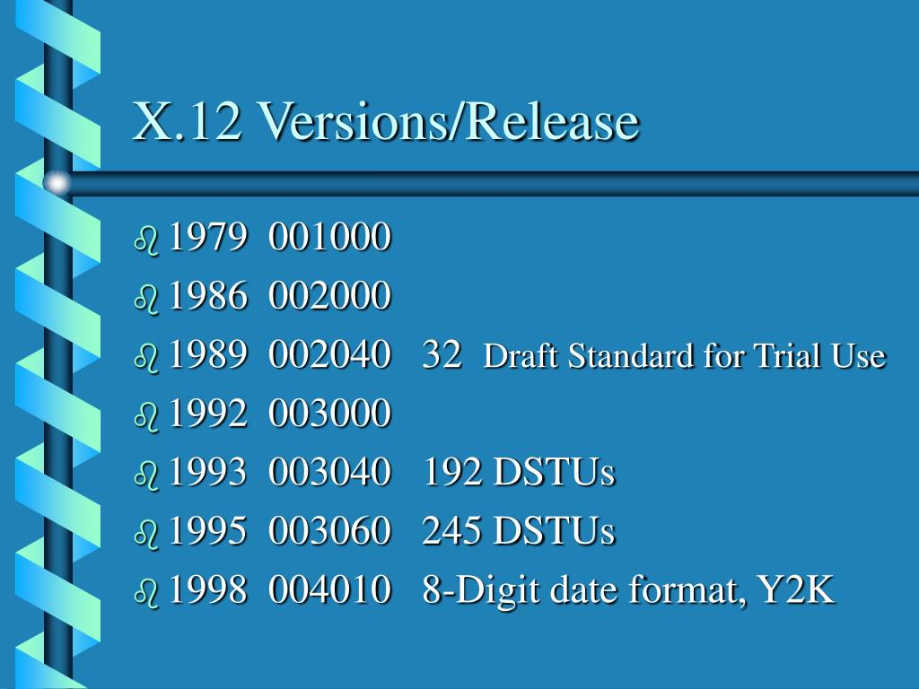 X.12 Versions/Release