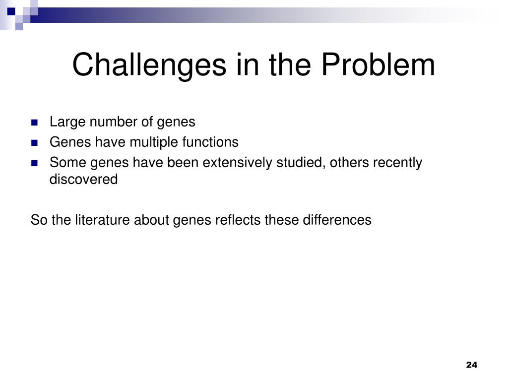 Challenges in the Problem