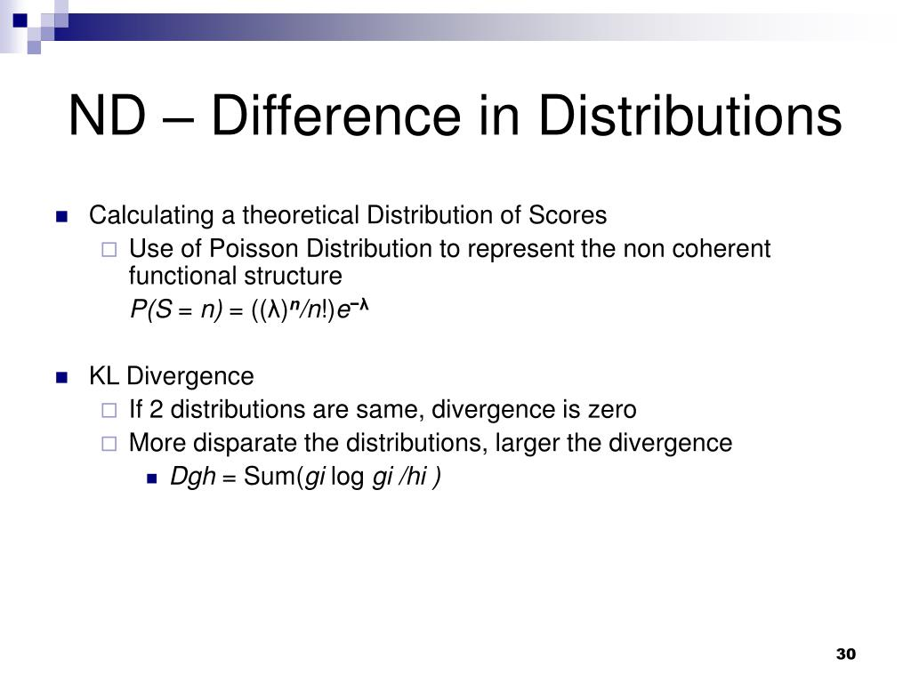 ND – Difference in Distributions