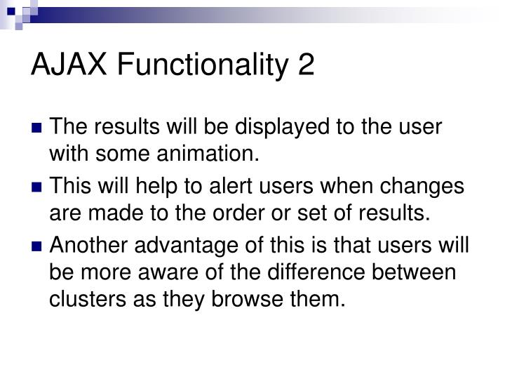AJAX Functionality 2