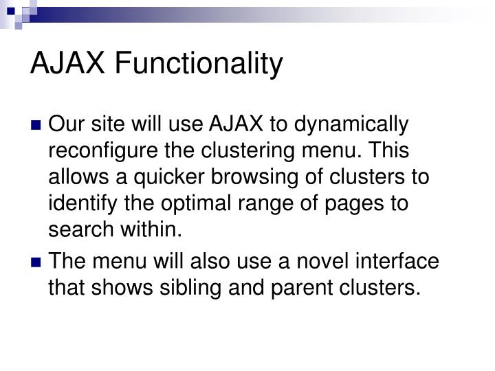 AJAX Functionality