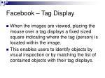 facebook tag display
