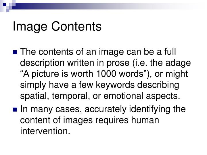 Image Contents