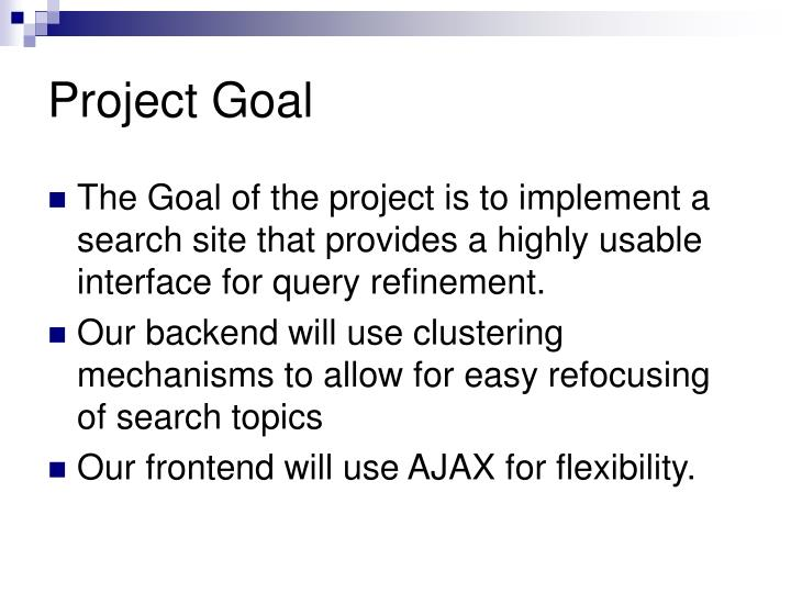 Project Goal