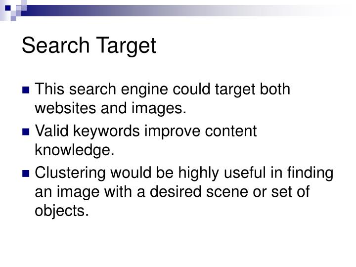 Search Target