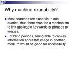 why machine readability