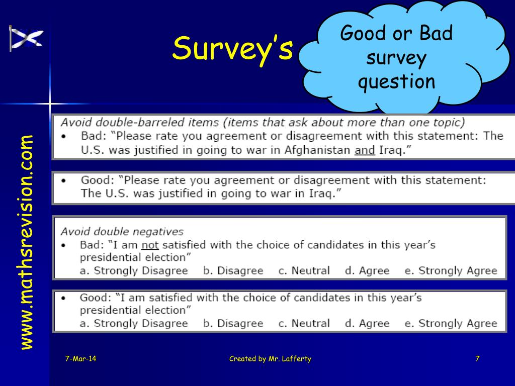 Good or Bad survey