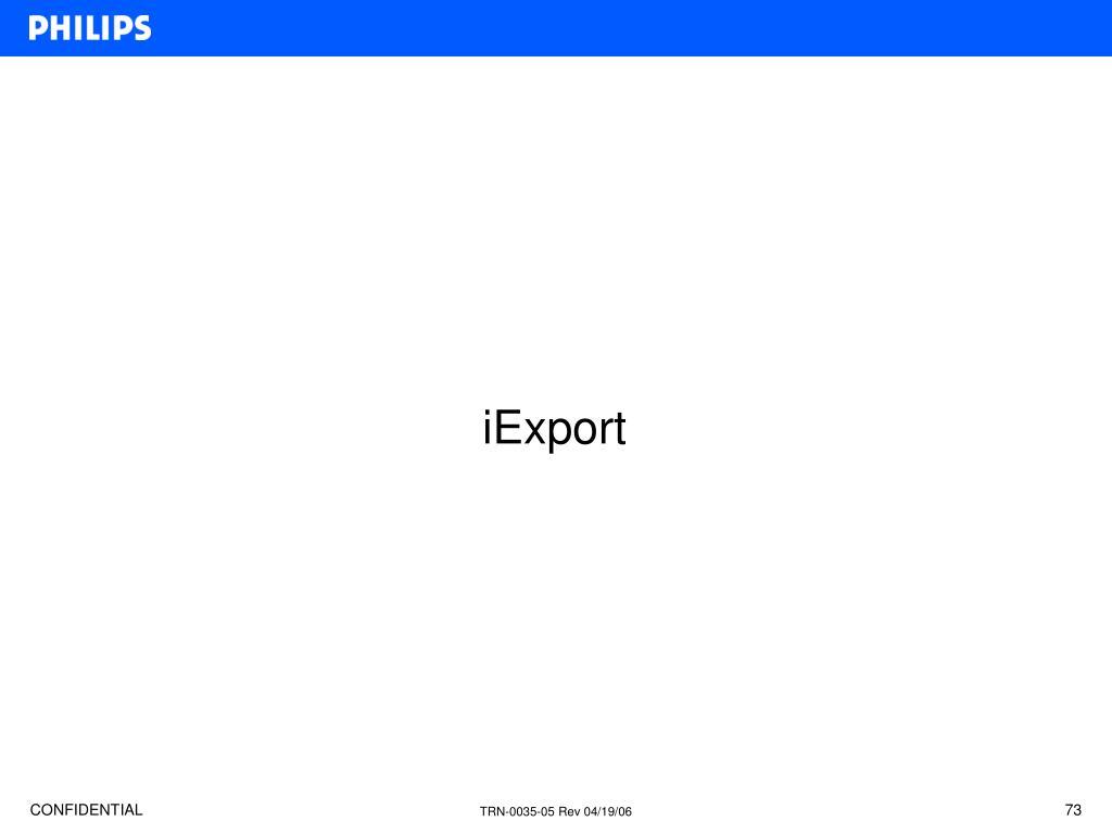 iExport