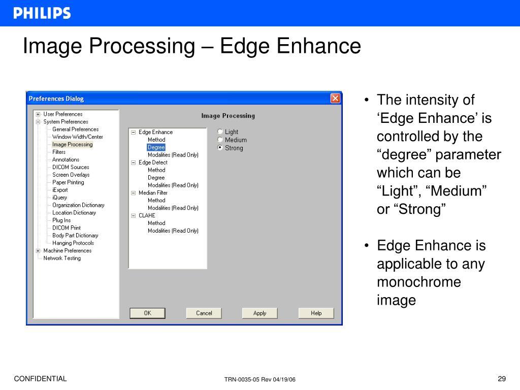Image Processing – Edge Enhance