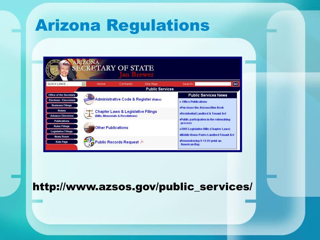 Arizona Regulations