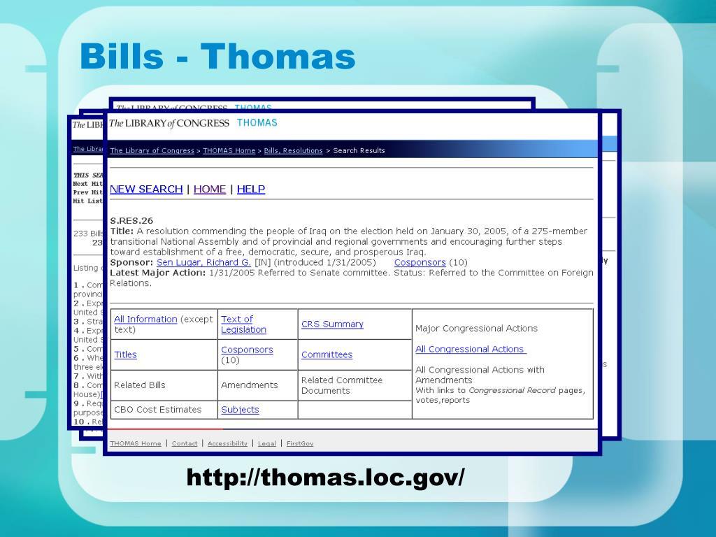 Bills - Thomas