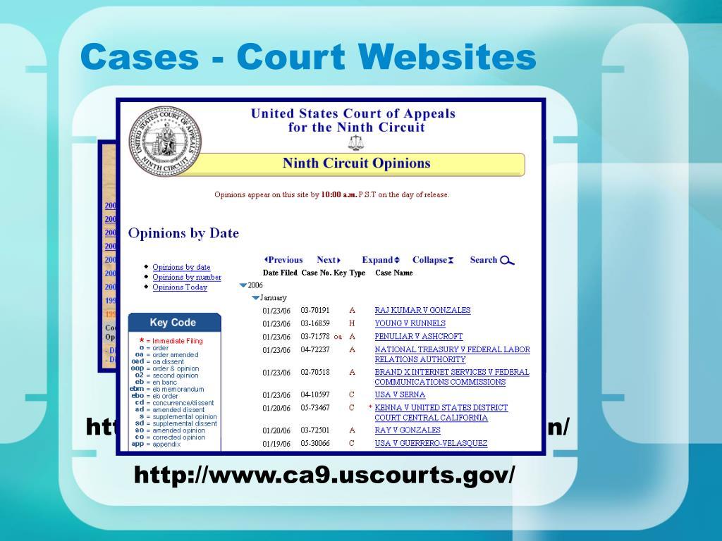 Cases - Court Websites