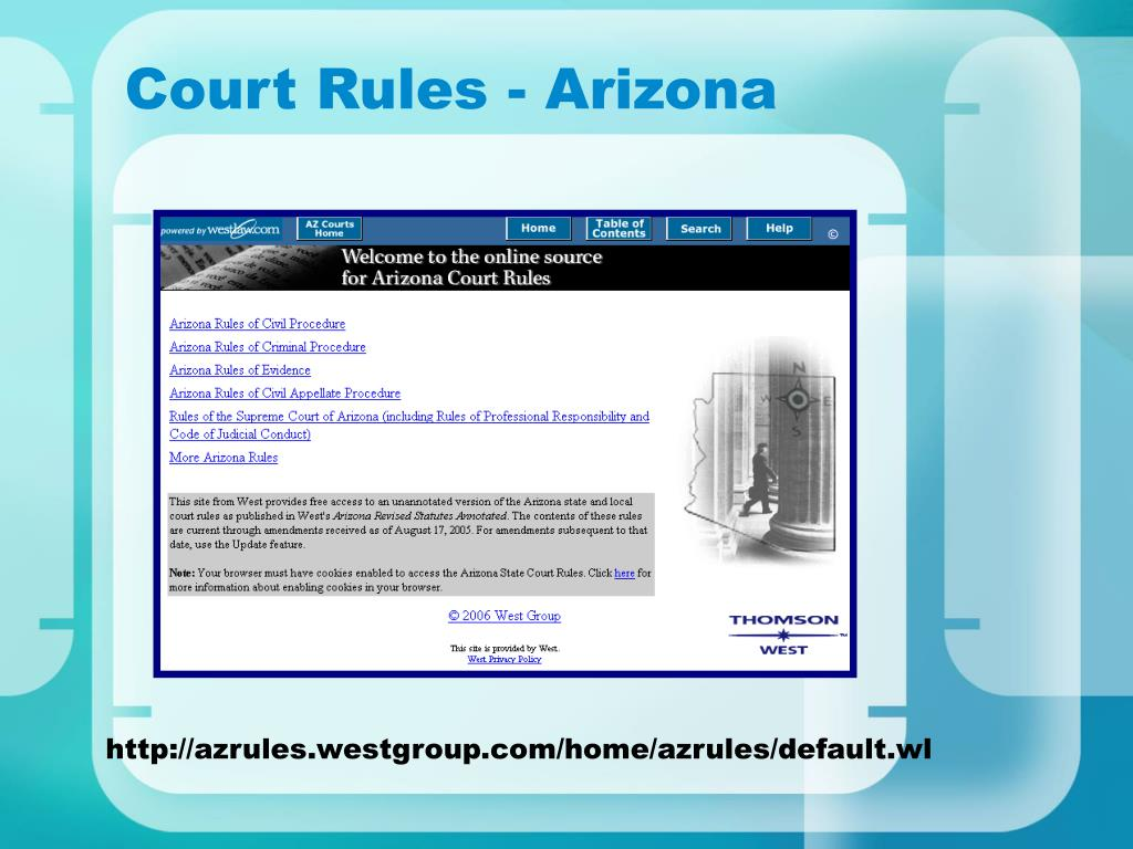 Court Rules - Arizona