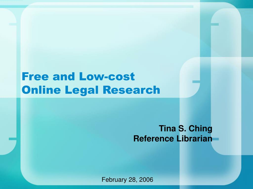 free and low cost online legal research