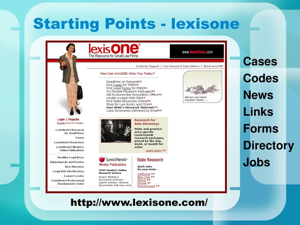 Starting Points - lexisone