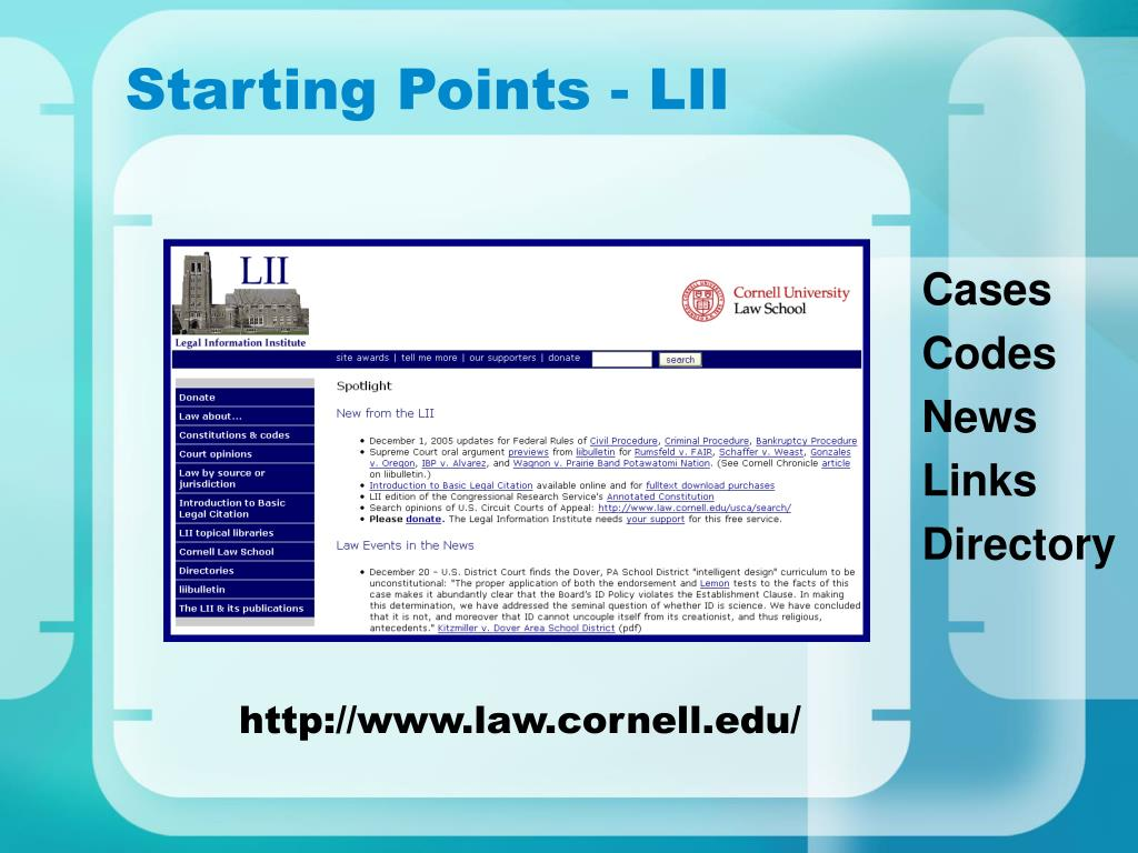 Starting Points - LII