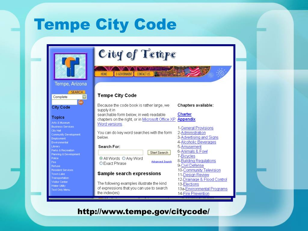 Tempe City Code