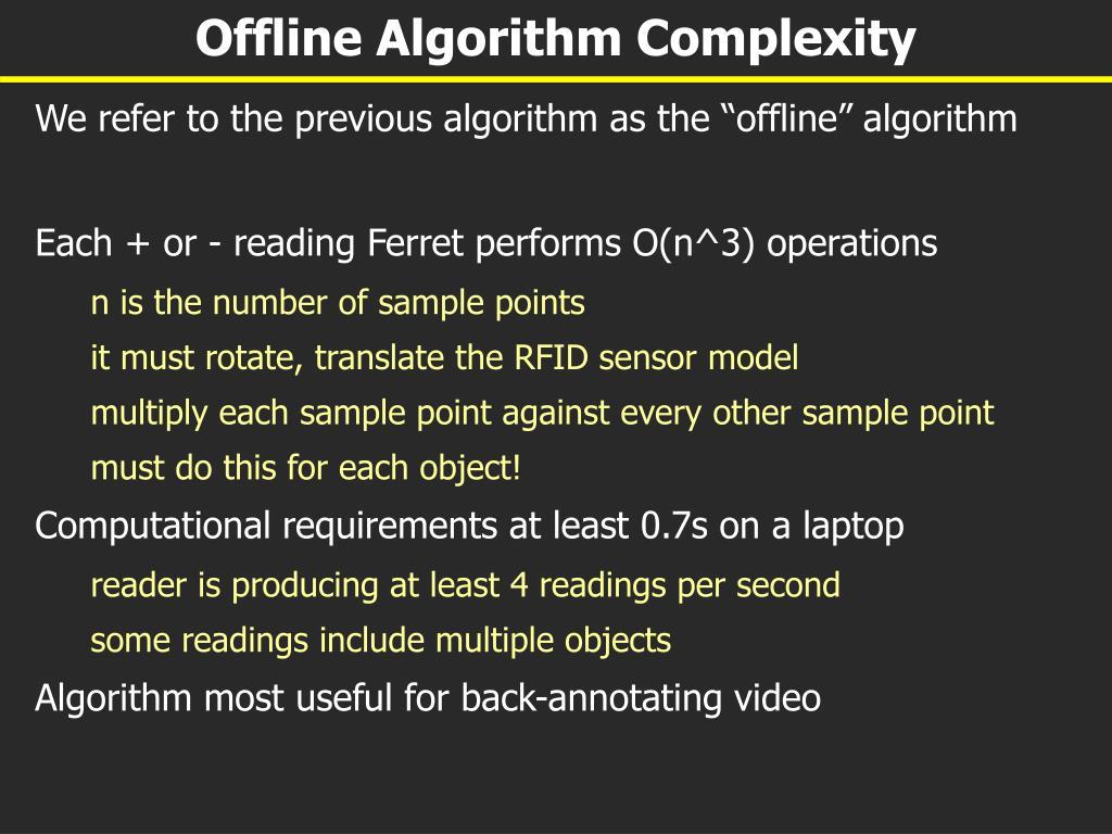 Offline Algorithm Complexity