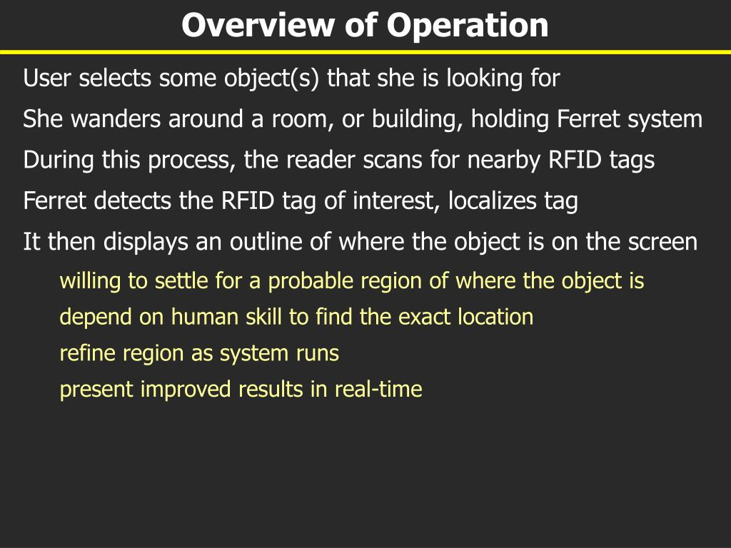 Overview of Operation