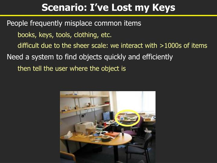 Scenario i ve lost my keys