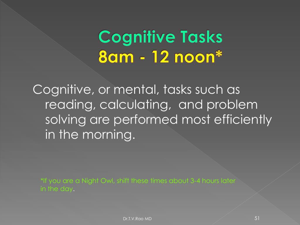 Cognitive Tasks