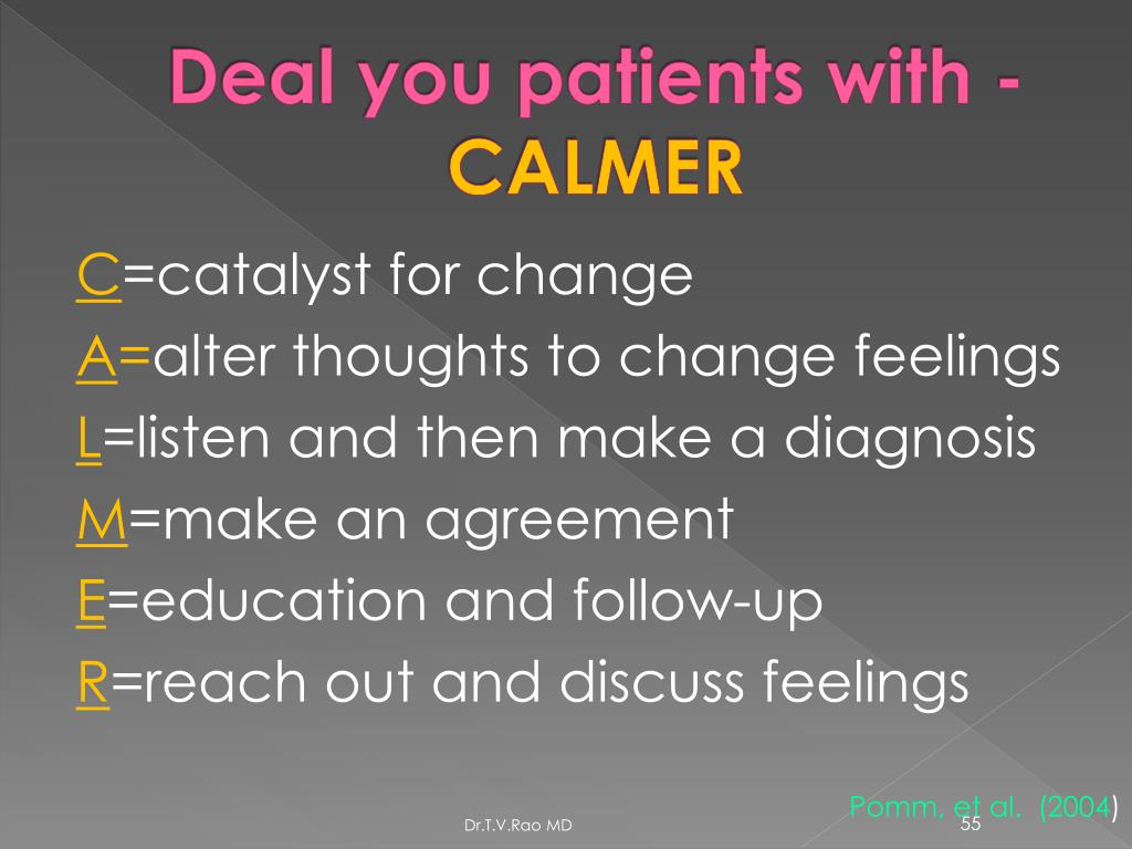 Deal you patients with -