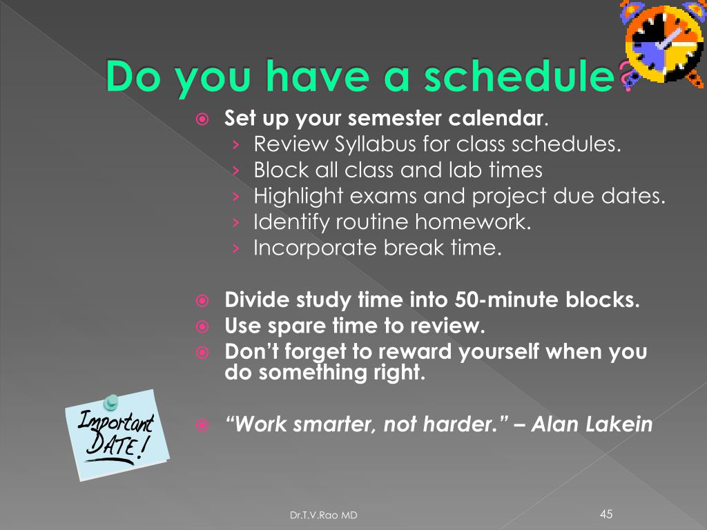 Do you have a schedule