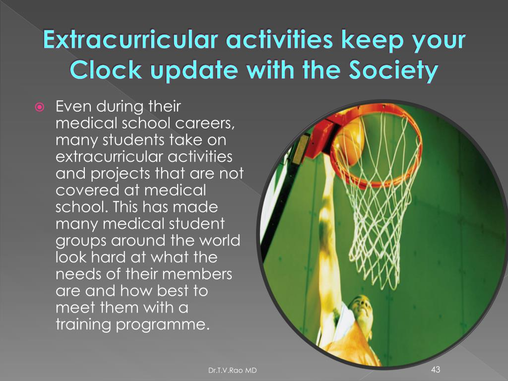 Extracurricular activities keep your Clock update with the Society