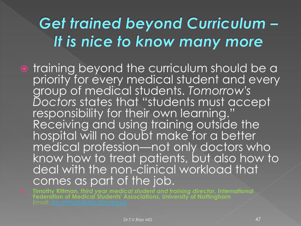 Get trained beyond Curriculum – It is nice to know many more