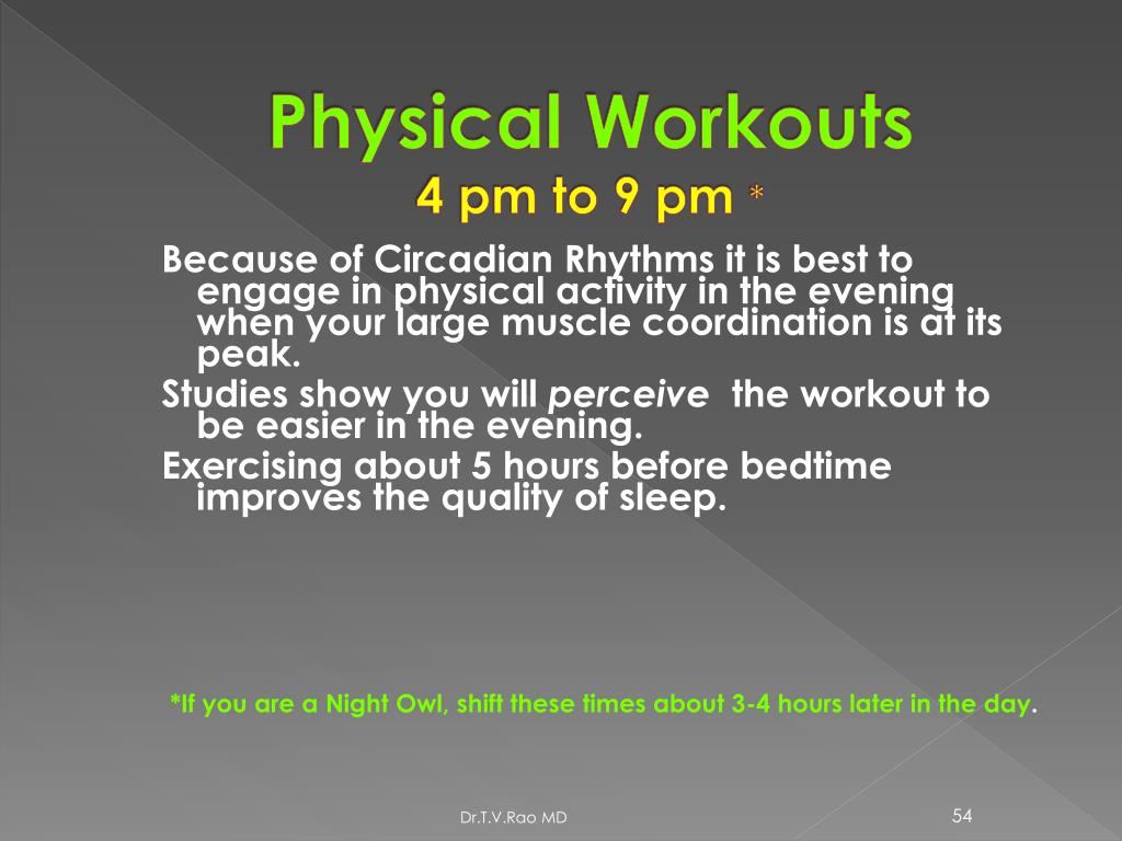 Physical Workouts