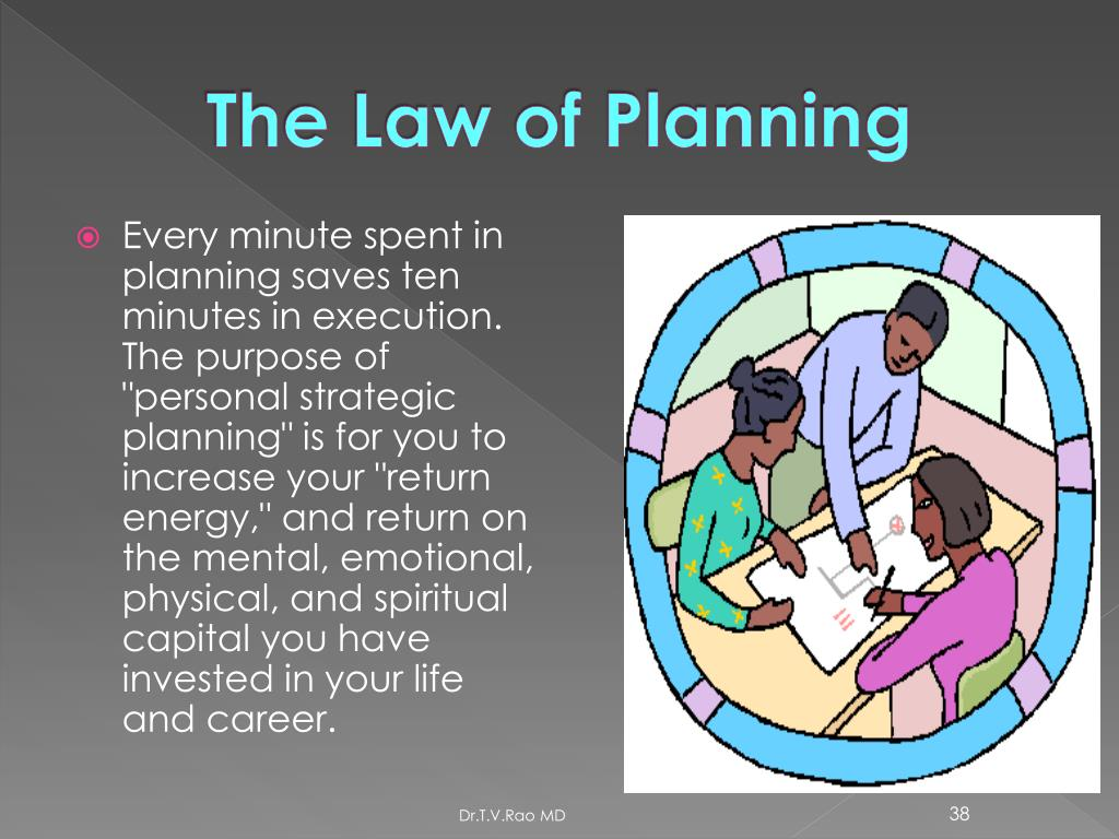 The Law of Planning