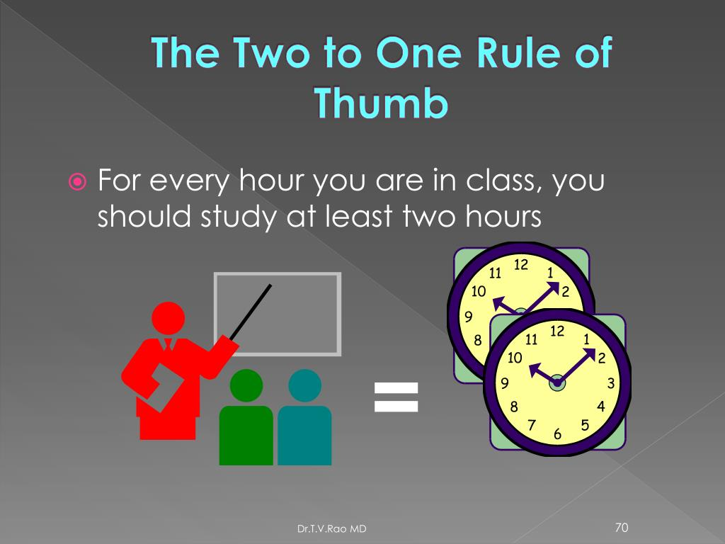 The Two to One Rule of Thumb