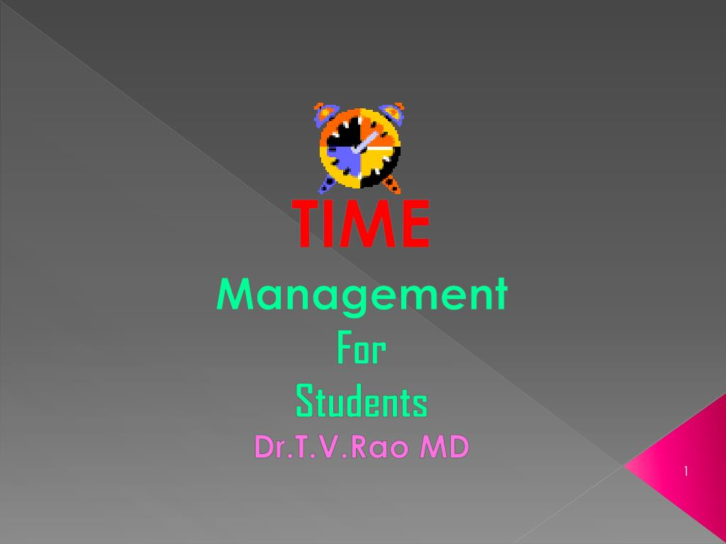 time management for students dr t v rao md