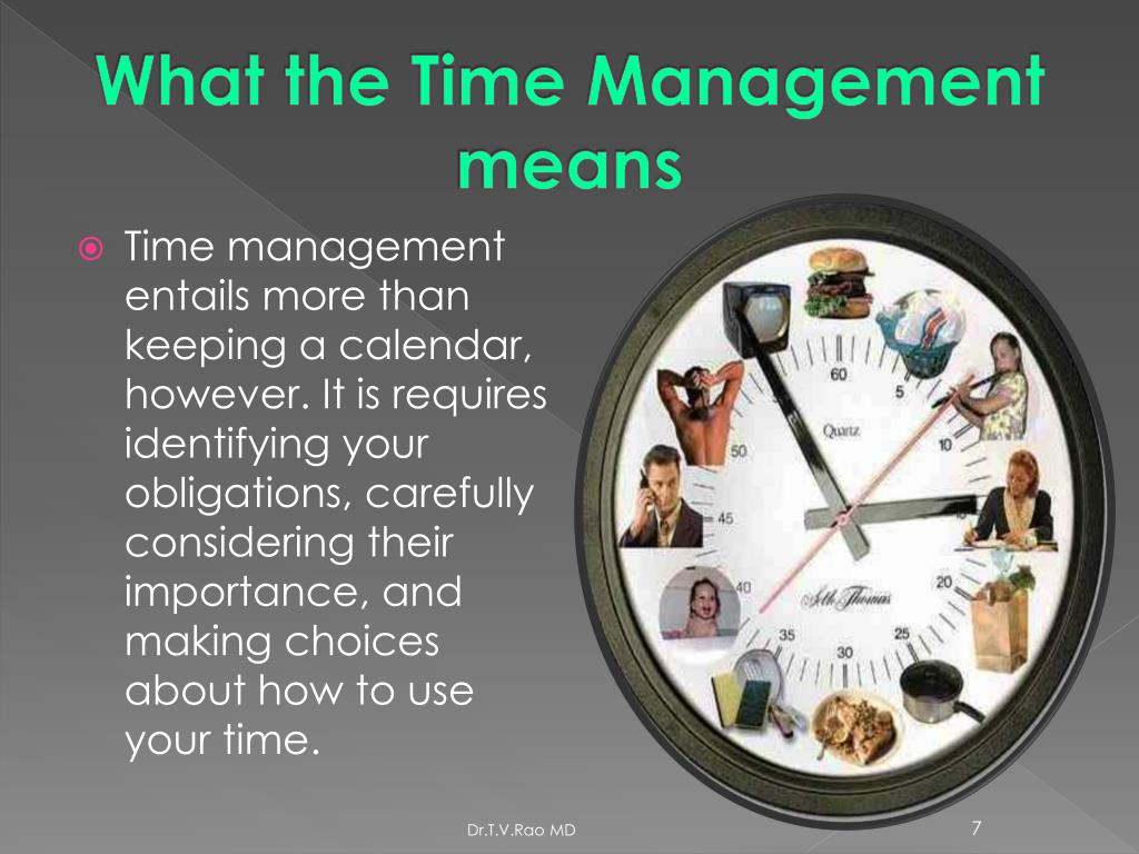 What the Time Management means