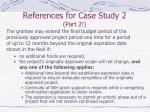 references for case study 2 part 2