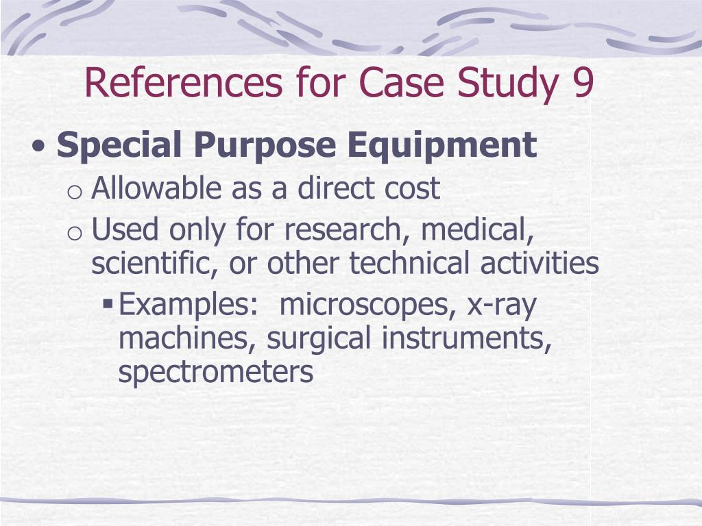 References for Case Study 9
