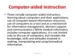 computer aided instruction
