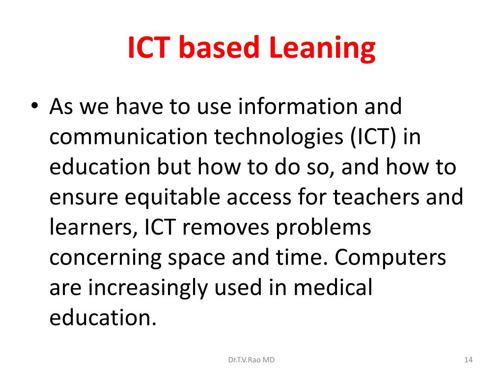 ICT based Leaning