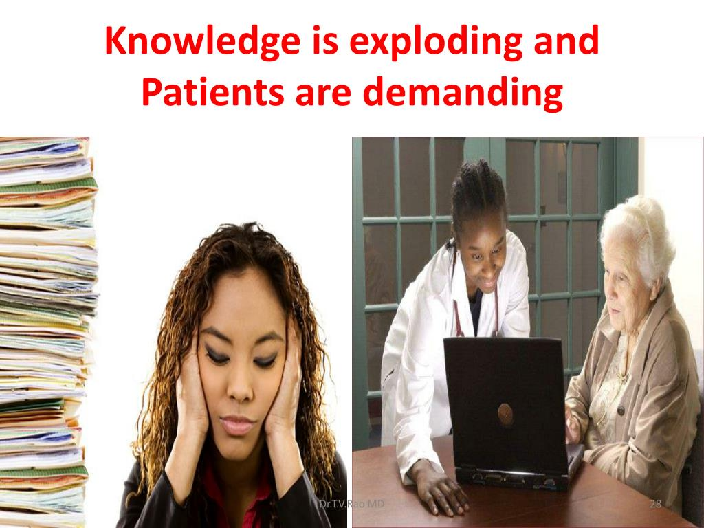 Knowledge is exploding and Patients are demanding