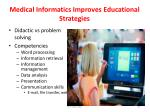 medical informatics improves educational strategies