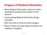 progress of medical informatics