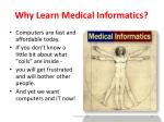 why learn medical informatics13