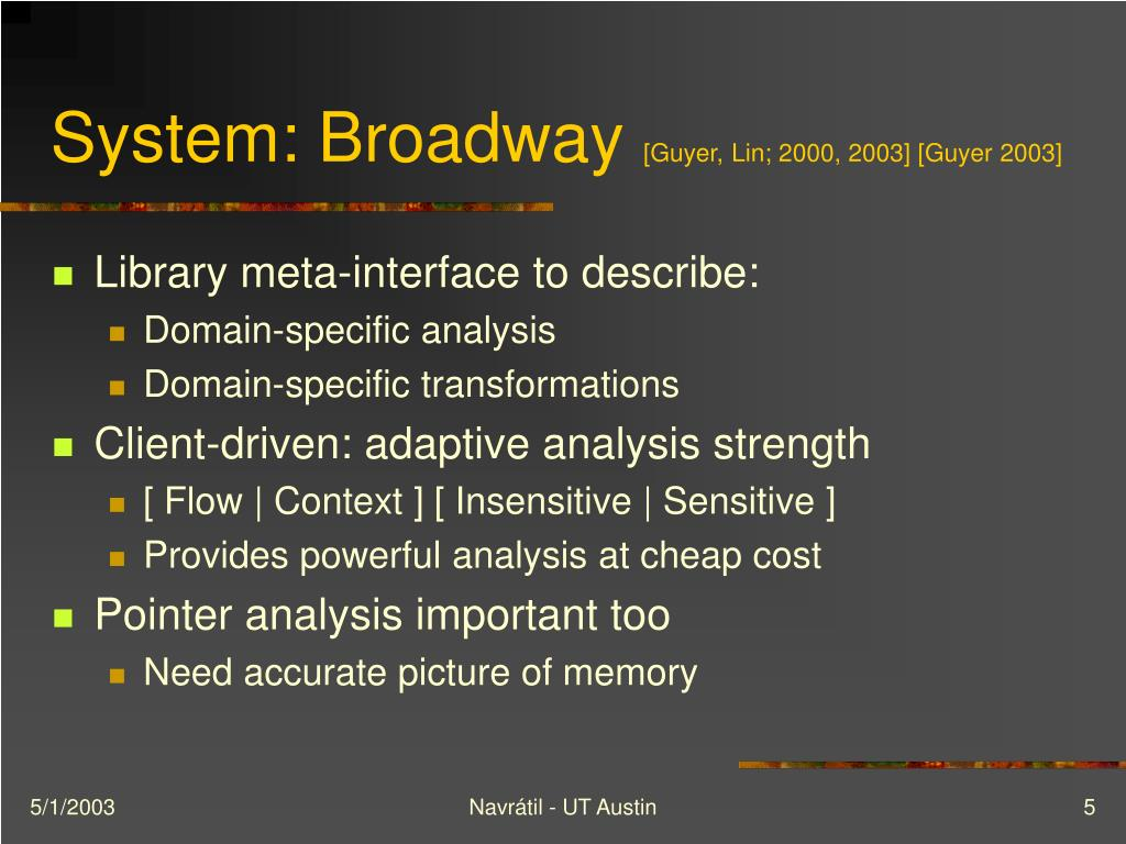 System: Broadway